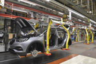 Modern automatized car production in a factory - LY00928
