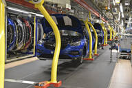 Modern automatized car production in a factory - LY00931