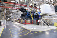 Modern automatized car production in a factory - LY00946