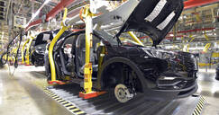 Modern automatized car production in a factory - LY00958