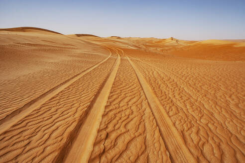 Sultanate Of Oman, Wahiba Sands, dunes in the desert - WWF05268