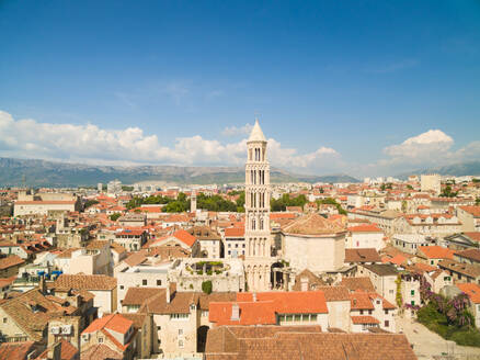 Aerial view of Saint Eufemia Church and Diocletian's palace in Split, Croatia. - AAEF03912