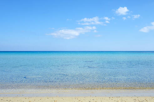 Blue sky and ocean on a secluded beach on the Karpaz Peninsula, Cyprus - CAVF64659