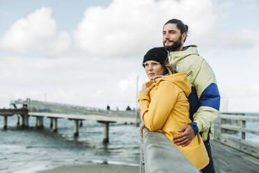 Couple on the pier in Heiligenhafen - NAF00151