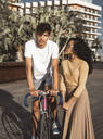 Cool couple with bicycle in the city - RCPF00012
