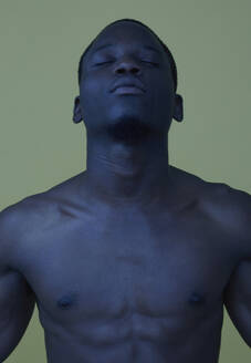 Portrait of African man with closed eyes - PGCF00039