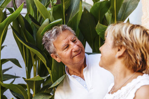 Portrait of smiling senior couple outdoors - MOSF00010