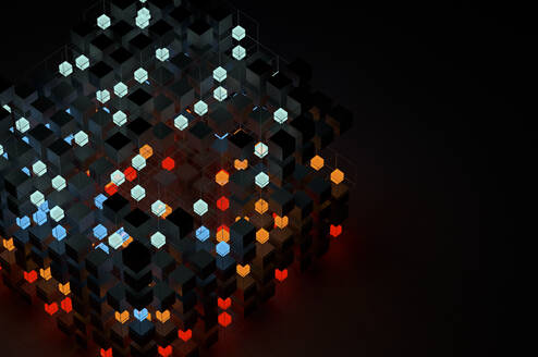 Abstract structures of illuminated cubes - JPF00404