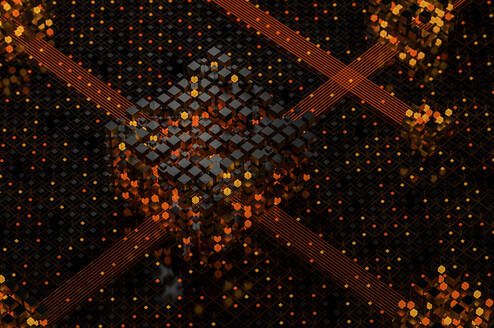 Abstract structures of illuminated cubes - JPF00407