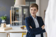 Portrait of confident businesswoman in office - KNSF06804