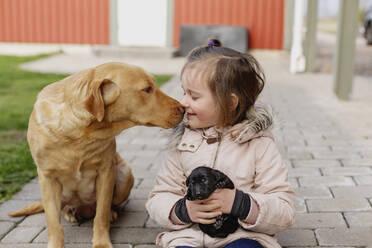 Girl with dog - JOHF03665