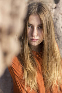 Portrait of a female teenager outdoors - JPTF00342