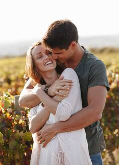Romantic couple in vineyard, Cape Town, South Africa - ISF22296
