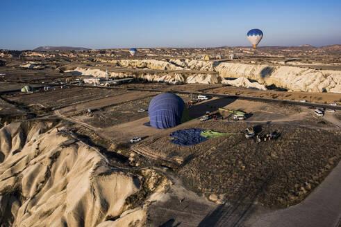 Hot air balloon over Göreme, Cappadocia, Turkey - ISF22467