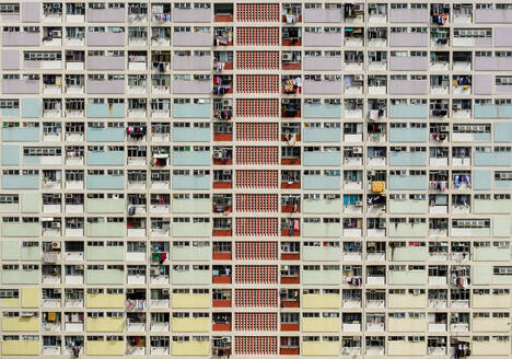 Aerial view of the Choi Hung Estate, in Hong Kong. - AAEF04527