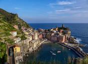 Vernazza Village, elevated view, Cinque Terre, UNESCO World Heritage Site, Liguria, Italy, Europe - RHPLF12367