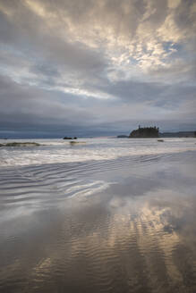 First Beach at dawn, Olympic National Park, UNESCO World Heritage Site, Washington State, United States of America, North America - RHPLF12478