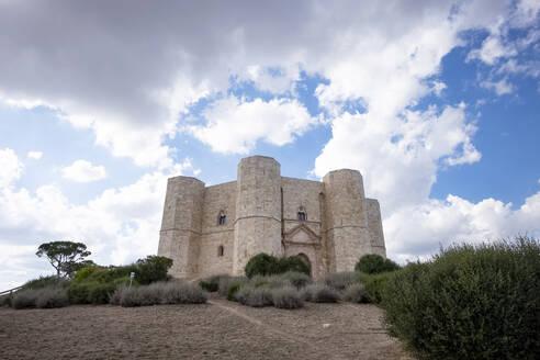 Italy, Province of Barletta-Andria-Trani, Andria, Clouds over Castel del Monte - HLF01182
