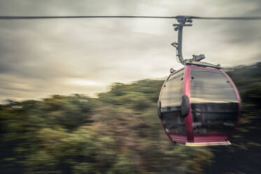 Cable car in motion, Thale, Saxony-Anhalt, Germany - FRF00878