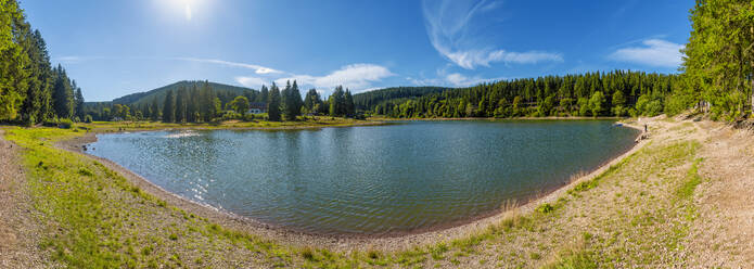Lake Luetsche dam, Oberhof, Thuringia, Germany - FRF00881