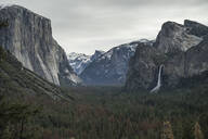 Majestic view of Yosemite Valley and Bridalveil Fall from Wawona Tunnel - CAVF68232