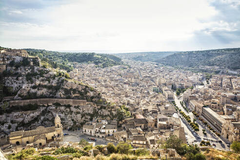 View of Scicli, Province of Ragusa, Sicily - MAMF00935