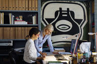 Colleagues working in architect's office - SODF00200