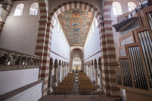 Interior of St. Michael's Church, Unesco world heritage sight Hildesheim, Lower Saxony, Germany - RUN03400
