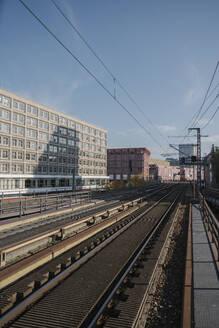 Rail tracks near Alexanderplatz, Berlin, Germany - AHSF01139