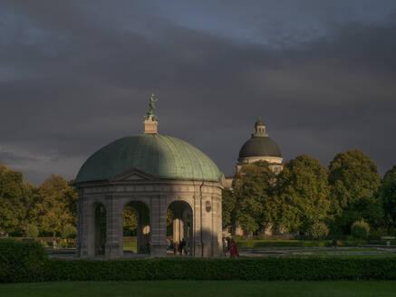 Germany, Munich,Diana Templetemple at dusk - JMF00456