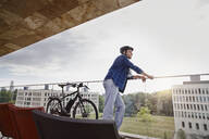 Student with e-bike at Goethe University - RORF01959