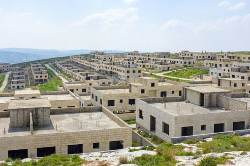 Unfinished housing project used for Israeli army training, near Nablus - CAVF69134