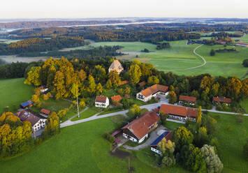 Germany, Bavaria, Upper Bavaria, Toelzer Land, Harmating, View of Harmating castle - SIEF09303