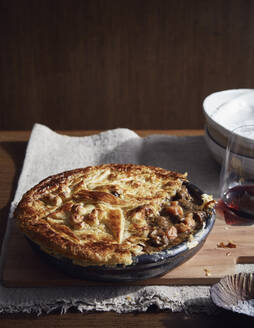 Kangaroo Burgundy pie, a bush tucker dish using indigenous ingredients - ISF22850