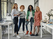 Portrait of confident female business team in office - ZEDF02818