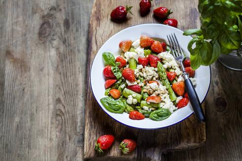 Green mixed salad with green asparagus - SBDF04124