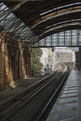 Railway tracks of a metro line, Berlin, Germany - AHSF01409