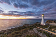 Lighthouse at sunset, Castlepoint, New Zealand - FOF11253