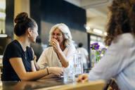 Women meeting in bistro, having fun - SODF00423