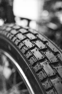 Detail of motorcycle tire - MTBF00246
