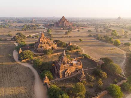 Aerial view of Bagan temples in Myanmar. - AAEF05765