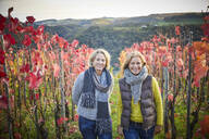 Portrait of two mature woman in a vineyard - FMKF06050