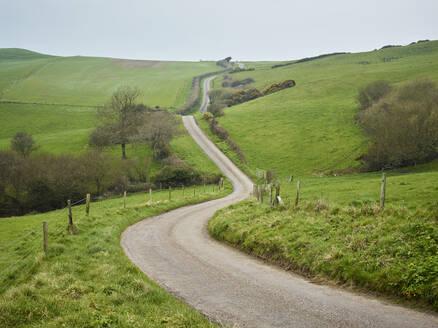 Dirt track trough rural landscape - JOHF04895