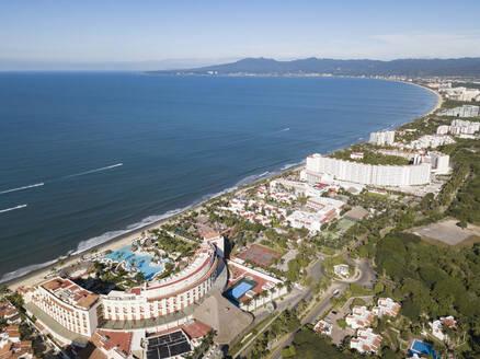 Aerial view of Nuevo Vallarta, Bahia de Banderas, Nayarit, Mexico - ABAF02252