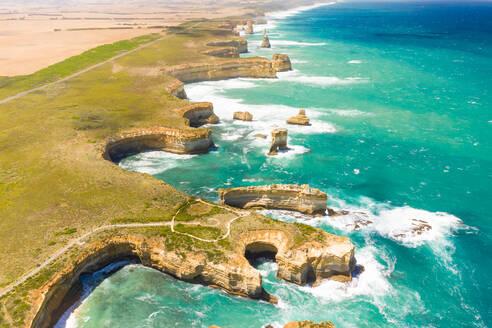 Aerial view of the razorback scenic spot, Australia. - AAEF06064