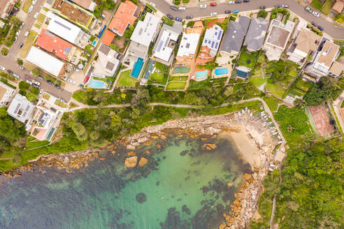 Aerial view of Gordons Bay natural reserve, Sydney, Australia. - AAEF06115
