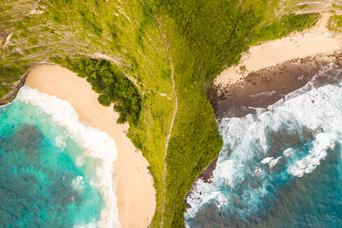 Aerial view above of scenic Paluang Cliff, Indonesia. - AAEF06196