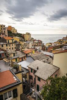 Townscape of Riomaggiore, Liguria, Italy - MSUF00098
