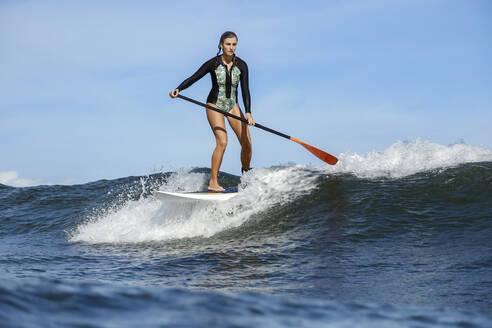 Female SUP surfer, Bali, Indonesia - KNTF03893