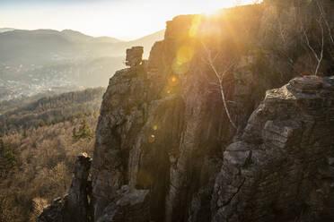 Sunset at Battert rock, Baden-Baden, Germany - MSUF00111
